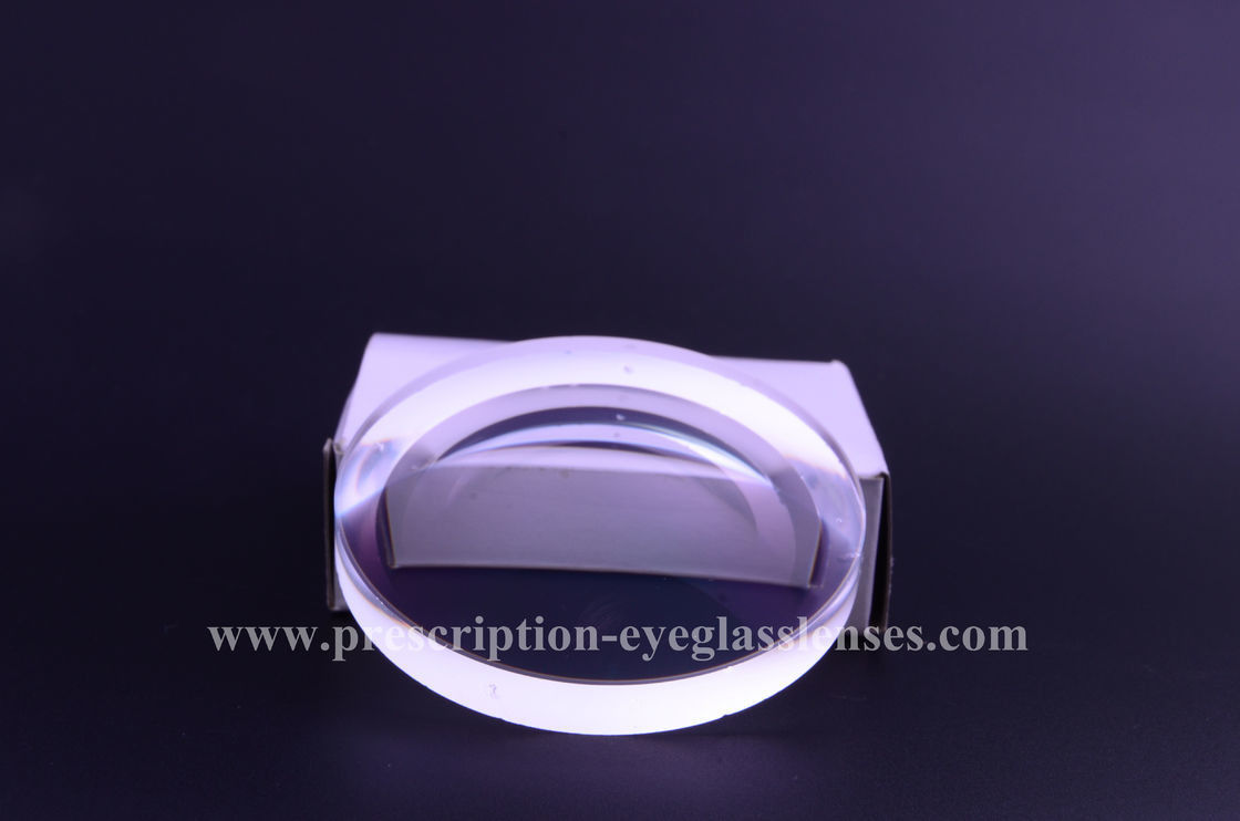 SF1.56 NK55 Hard Coating Eyeglass Lens Blanks , Semi Finished Lenses For Reading Glass